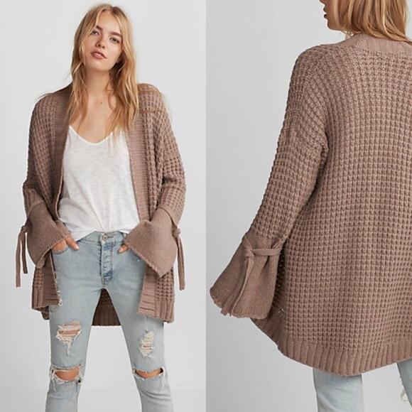 Express Sweaters - Express tie coatigan